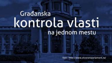 """Ulična akcija """"Za otvoreni parlament"""" u Kruševcu"""